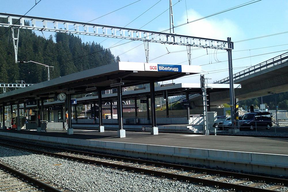 SOB Bahnhöfe Ausserschwyz